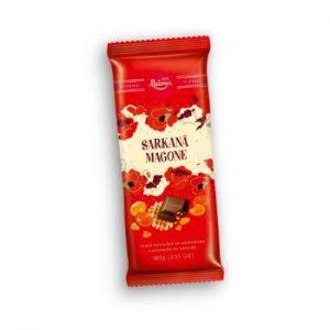 Šokolāde tumšā Sarkanā Magone ar karam. un vaf. 100g