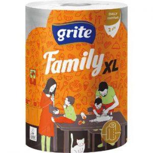 Papīra dvielis Grite Family XXL 2slāņi 1rullis