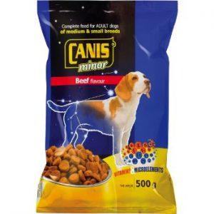Barība suņiem Canis Major ar lielopu gaļu mazo šķirņu suņiem
