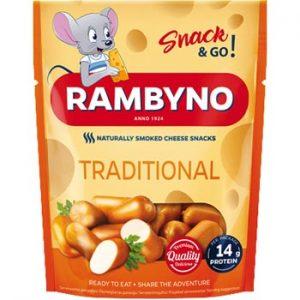 Kausētā siera uzkoda Rambyno Snack 45% 75g