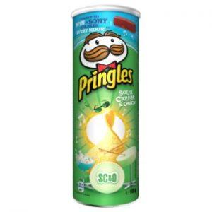 Čipši Pringles ar krējumu un sīpoliem 165g