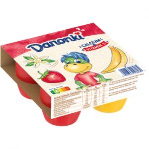 Biezpiena sieriņš Danonki ar zemeņu-vaniļas un banānu 4x90g