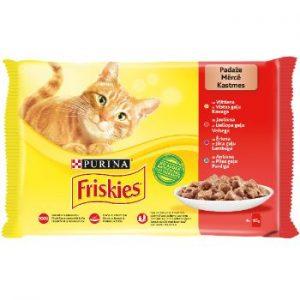 Barība kaķiem Friskies gaļas izlase 4*85g