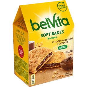 Cepumi Belvita Soft Bakes Filled Choco 250g