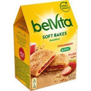 Cepumi Belvita Soft Bakes Filled Strawberry 250g