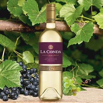 Vīns La Conda Sem-sweet balts 13% 0.75l