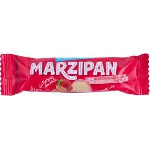 Marcipāna batoniņš Zemeņu šokolādē 40g