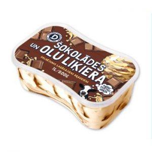 Saldējums Druva šokolādes un olu liķiera ar šok.gb.1l/500g