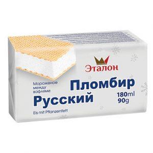 Saldējums vaniļas plombīrs Russkij Plombir180ml/90g
