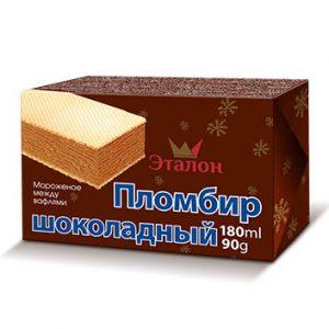 Saldējuma sendvičš šokolādes 180g/90g