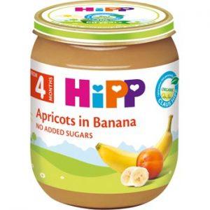Biezenis Hipp Bio aprikozes ar banāniem 125g