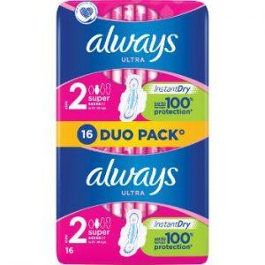 Hig.paketes Always Duo Ultra Super Plus 16gb