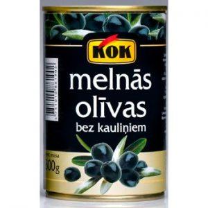 Olīvas melnās b/k Kok 300g/110g