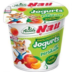 Jogurts Ekoloģiskais Nau ar persikiem 3.2% 125g
