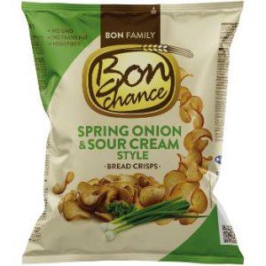 Maizes čipši Bon Chance ar krējuma garšu un lok. 120g