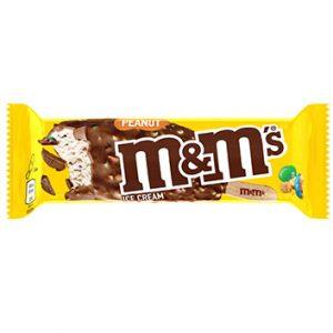 Saldējums M&M's ar zemesriesktiem uz kociņa 82ml/62g