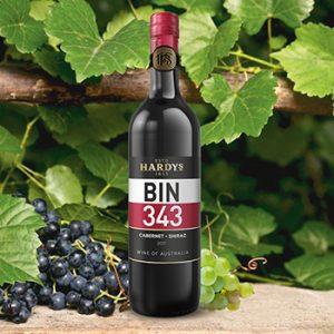 Vīns Hardys Bin 343 Cabern.Shiraz 13
