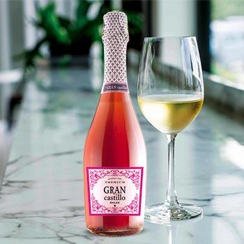 Dzirkstošais vīns Gran Castillo Rose salds rozā 7.5% 0.75l