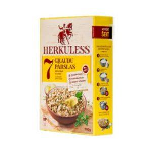 Pārslas auzu Herkuless 7graudu ar klijām-lins.500g