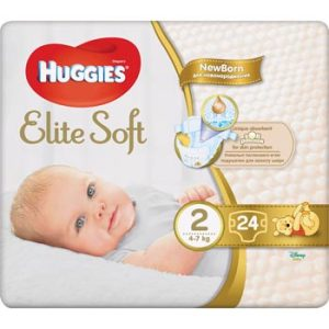 Autiņbiksītes Huggies Elite Soft2 4-7kg 24gb
