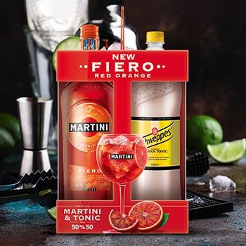 Vermuts Martini Fiero 14.9% 1l+Scweppes toniks 1.35l