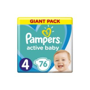 Autiņbiksītes Pampers Active Baby S4 76gbgb GP