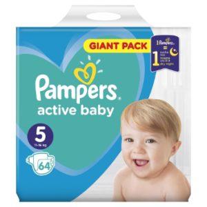 Autiņbiksītes Pampers Active Baby S5 64gb GP